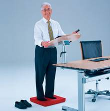 Transform your desk into a standing desk and use it with a kyBounder.