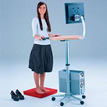The ergonomic standing PC work station.
